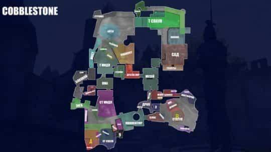 Обозначение точек на карте Cobblestone на русском