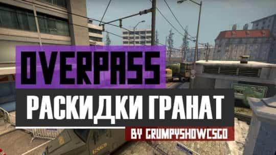 Раскидки на карте de_overpass