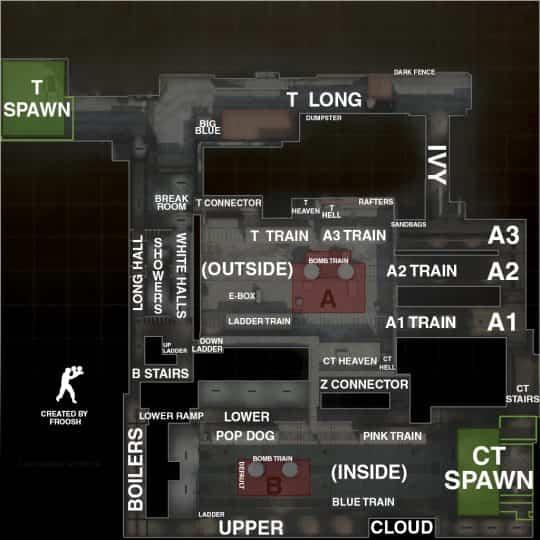 Обозначение точек на карте Train