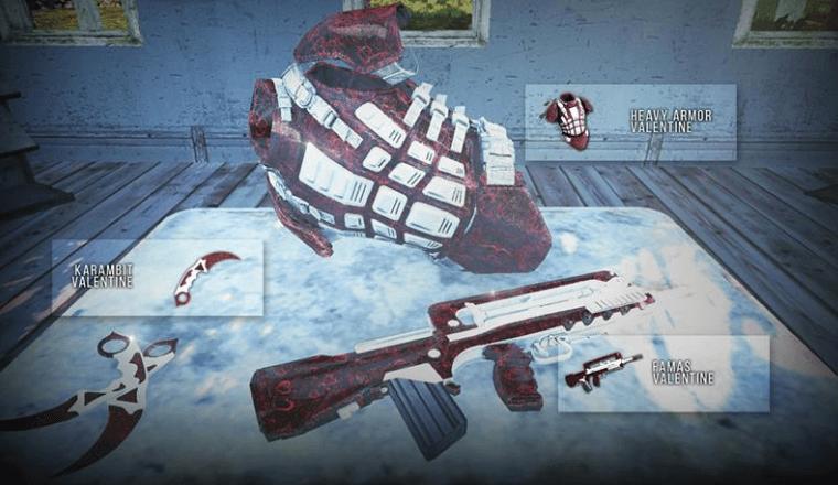 Karambit Valentine Heavy Armor Famas Valentine Infestation New Z