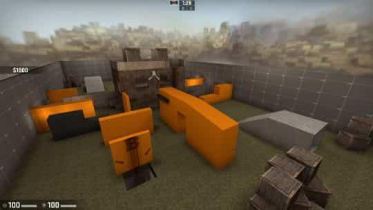 Карта 2v2 Middle House для CS:GO