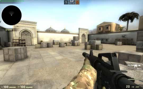 Карта aim_dust_arena для CS:GO