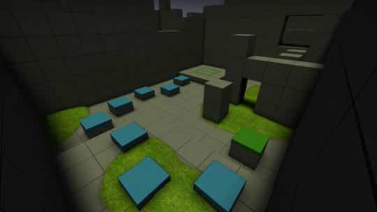 Карта bhop_blublock для CS:GO