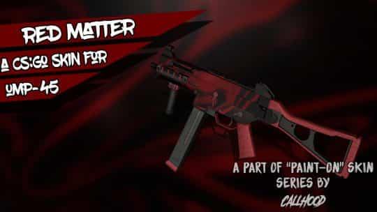 Скин UMP45-Red Matter для CS:GO
