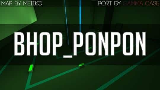 Карта bhop_ponpon для CS:GO
