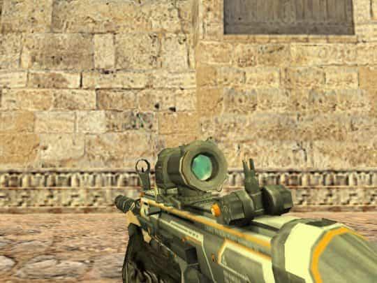 Модель оружия CS:1.6 - Blackshot Scar Omega